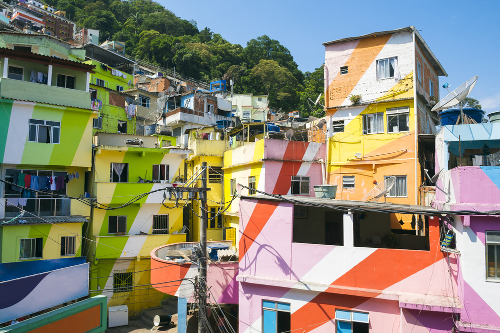 Fawela Santa Marta w Rio de Janeiro